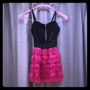 Weissman Black and Hot Pink Dance Costume
